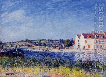 Confluence of the Seine and the Loing by Alfred Sisley - Reproduction Oil Painting