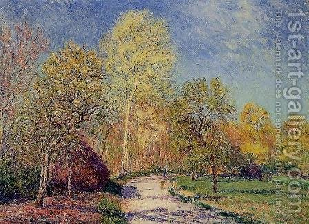 A May Morning in Moret by Alfred Sisley - Reproduction Oil Painting