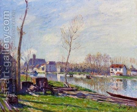 Construction Site at Matrat, Moret-sur-Loing by Alfred Sisley - Reproduction Oil Painting