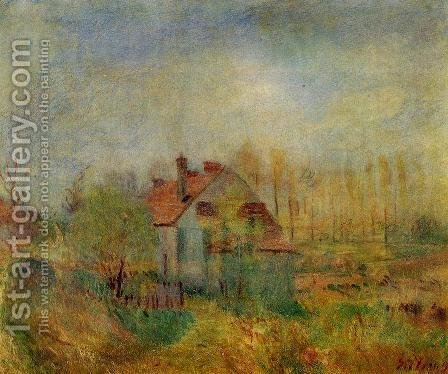 Springtime Scene - Morning by Alfred Sisley - Reproduction Oil Painting