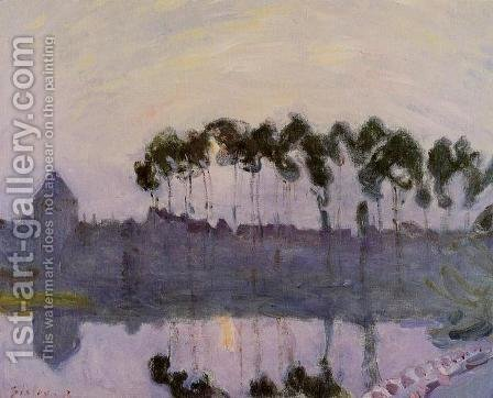Setting Sun at Moret by Alfred Sisley - Reproduction Oil Painting