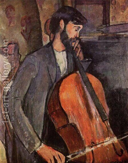 The Cellist by Amedeo Modigliani - Reproduction Oil Painting