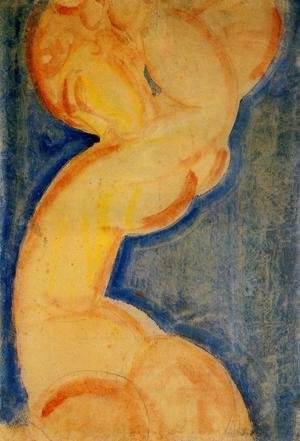 Reproduction oil paintings - Amedeo Modigliani - Caryatid IV