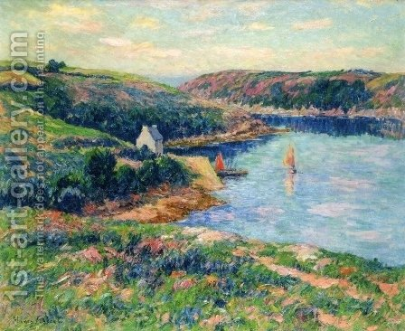 River in Belon by Henri Moret - Reproduction Oil Painting