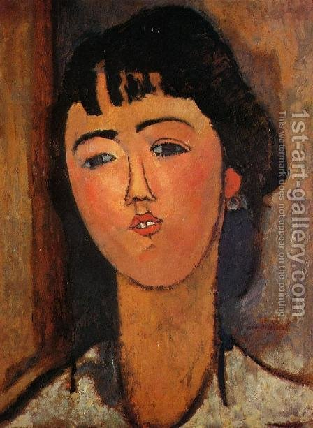 Portrait of a Woman I by Amedeo Modigliani - Reproduction Oil Painting