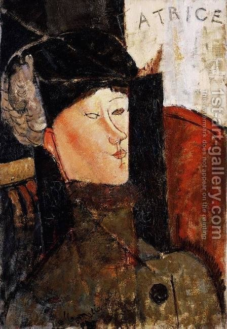 Portrait of Beatrice Hastings III by Amedeo Modigliani - Reproduction Oil Painting