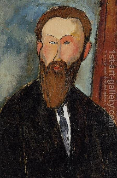 Portrait of the Photographer Dilewski by Amedeo Modigliani - Reproduction Oil Painting