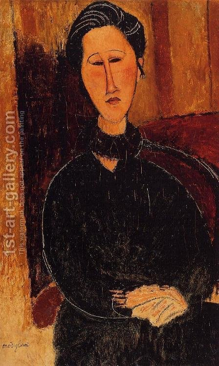 Anna (Hanka) Zabrowska by Amedeo Modigliani - Reproduction Oil Painting
