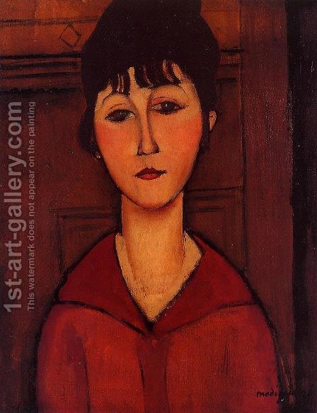 Head of a Young Girl by Amedeo Modigliani - Reproduction Oil Painting