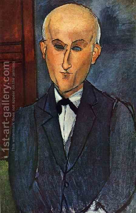 Max Jacob by Amedeo Modigliani - Reproduction Oil Painting