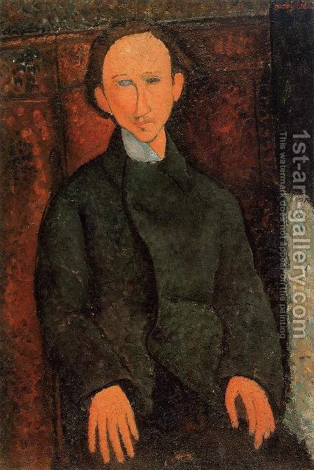 Portrait of Pinchus Kremenge by Amedeo Modigliani - Reproduction Oil Painting