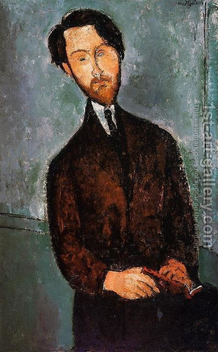 Portrait of Leopold Zborowski by Amedeo Modigliani - Reproduction Oil Painting