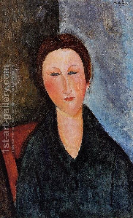 Bust of a Young Woman I by Amedeo Modigliani - Reproduction Oil Painting