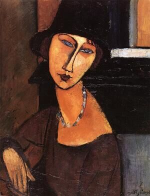Reproduction oil paintings - Amedeo Modigliani - Jeanne Hebuterne with Hat and Necklace