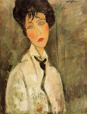 Amedeo Modigliani reproductions - Portrait of a Woman in a Black Tie
