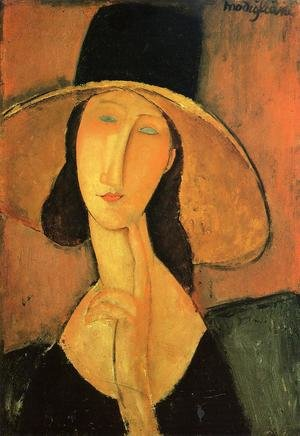 Famous paintings of Portraits: Portrait of a Woman with Hat