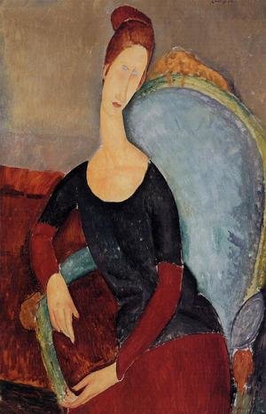 Reproduction oil paintings - Amedeo Modigliani - Portrait of Jeanne Hebuterne Seated in an Armchair