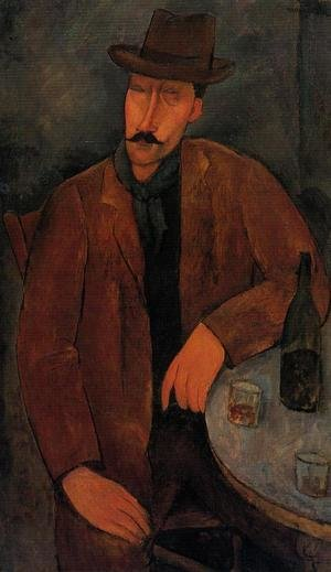 Reproduction oil paintings - Amedeo Modigliani - Man with a Glass of Wine