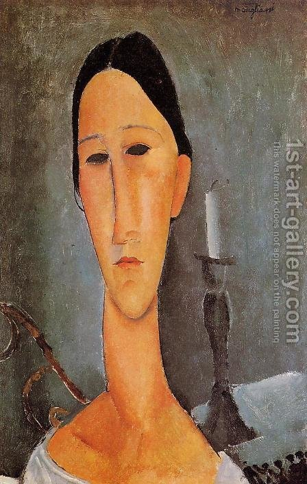 Portrait of Anna Zborowska I by Amedeo Modigliani - Reproduction Oil Painting