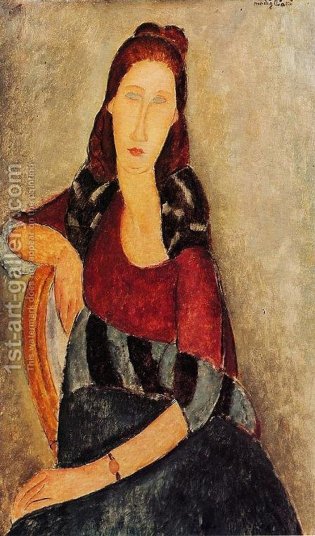 Portrait of Jeanne Hebuterne III 2 by Amedeo Modigliani - Reproduction Oil Painting