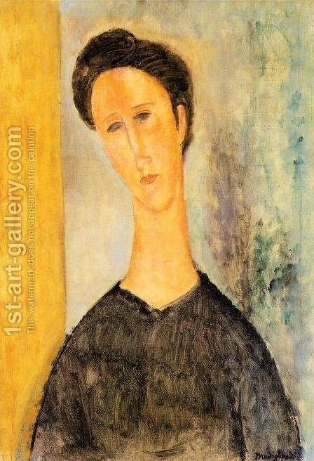 Portrait of a Woman II by Amedeo Modigliani - Reproduction Oil Painting