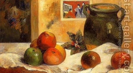 Paul Gauguin: Still Life with Japanese Print I - reproduction oil painting