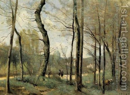 Jean-Baptiste-Camille Corot: First Leaves, near Nantes - reproduction oil painting