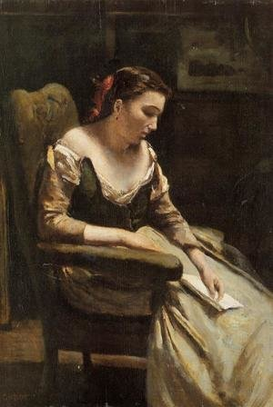 Reproduction oil paintings - Jean-Baptiste-Camille Corot - The Letter