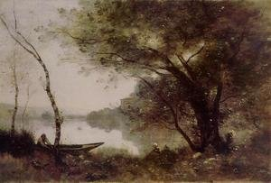 Reproduction oil paintings - Jean-Baptiste-Camille Corot - The Boatmen of Mortefontaine