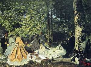 Famous paintings of Trees: Luncheon on the Grass 2