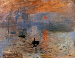 Famous paintings of Ships & Boats: Impression, Sunrise 2