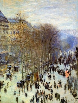 Famous paintings of Transportation: Boulevard des Capucines 3
