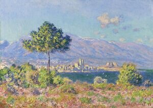 Famous paintings of Clouds & Skyscapes: View of Antibes from the Plateau Notre-Dame