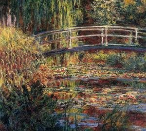 Famous paintings of Landscapes: Water-Lily Pond, Symphony in Rose