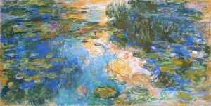 Famous paintings of Landscapes: The Water-Lily Pond X