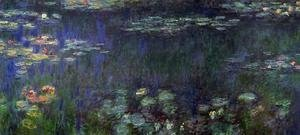 Famous paintings of Landscapes: Green Reflection (left half)
