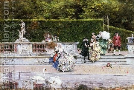 Giovanni Boldini: Scene Galante - reproduction oil painting
