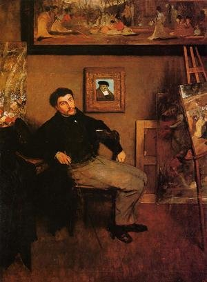 Famous paintings of Furniture: Portrait of James Tissot
