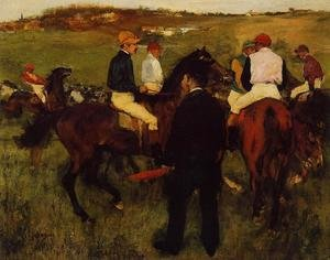 Famous paintings of Sport and Games: Out of the Paddock