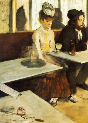 Famous paintings of Furniture: The Absinthe Drinker