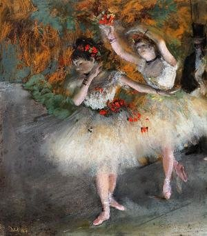 Famous paintings of Studios and Workshops: Two Dancers Entering the Stage