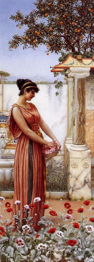 Reproduction oil paintings - John William Godward - An Idle Hour