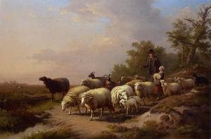 Reproduction oil paintings - Anton Mauve - Tending the Flock