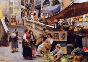 Henry Woods reproductions - At the Foot of the Rialto, Venice