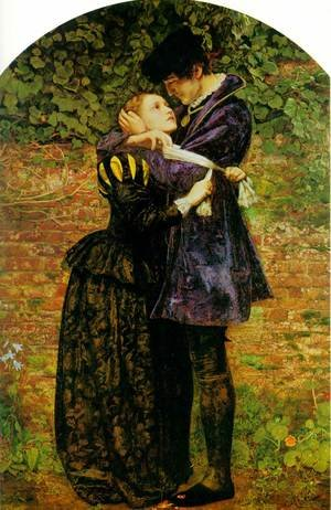 Reproduction oil paintings - Sir John Everett Millais - A Huguenot, on St. Bartholomew's Day Refusing to Shield Himself from Danger by Wearing the Roman Catholic Badge