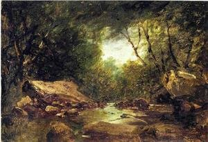 Reproduction oil paintings - John Frederick Kensett - Brook in the Catskills