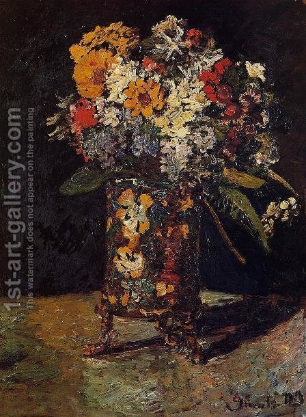 Bouquet of Flowers by Adolphe Joseph Thomas Monticelli - Reproduction Oil Painting