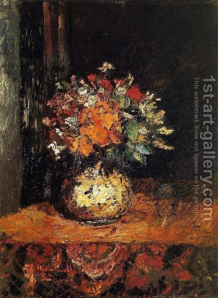 Bouquet of Flowers I by Adolphe Joseph Thomas Monticelli - Reproduction Oil Painting
