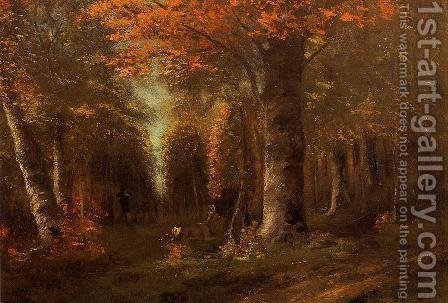 The Forest in Autumn by Gustave Courbet - Reproduction Oil Painting