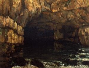 Famous paintings of Caves: The Source of the Loue